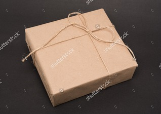 stock-photo-parcel-wrapped-packaged-box-on-grey-background-253733119